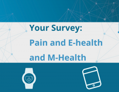 The Pain Alliance Europe (PAE) 2020 survey about the use of electronic devices/services to manage their health is now open until end of April!