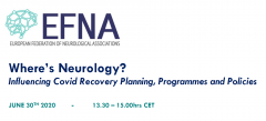 EFNA will be hosting a second webinar about the impact of Covid-19 on neurology and advocacy. The online event will take place on June 30th at 1330 CEST.
