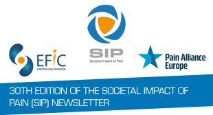 30th Edition of the Societal Impact of Pain (SIP) newsletter