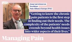 Pain Alliance Europe (PAE) has recently worked with Health Awareness on the 2020 Managing Pain campaign.