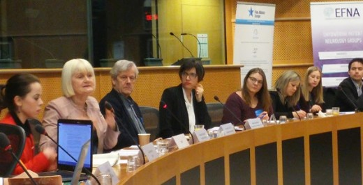 The first meeting of the MEP Interest Group on Brain, Mind and Pain of 2018 was held at the European Parliament in Brussels last week. The theme for the event was 'How can the EU : #MakeWorkWork for young people affected by brain, mind and pain conditions?' The meeting was hosted by Marian Harkin, co-chair of the Brain, Mind and Pain Interest Group, member of the European Parliament EMPL committee, and an MEP with a long-standing interest in Young people and also in Health issues. The MEP Interest Group on Brain, Mind and Pain is a jointly coordinated by EFNA and Pain Alliance Europe (PAE). Visit  www.brainmindpain.eu to find out more.